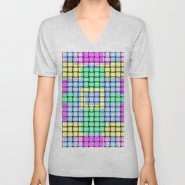 Beautiful Pastel Weave Texture Unisex V-Neck