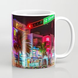 Marlin Hotel, South Beach Miami Florida Landscape Painting by Jeanpaul Ferro Coffee Mug