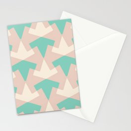 Geometrical pattern in pastel pink Stationery Cards