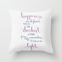 snape Throw Pillows featuring Happiness can be found by Earthlightened