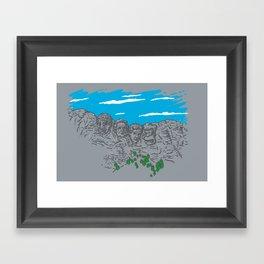Presidents on a Mountain Framed Art Print