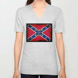 Heritage, not Hatred - US Southern Cross Flag Unisex V-Neck