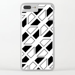 Black and White Trapezoid Clear iPhone Case