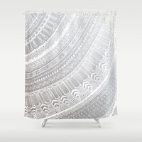silver Shower Curtains featuring Silver by rskinner1122