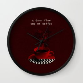 """Twin Peaks"" - A damn fine cup of coffee Wall Clock"
