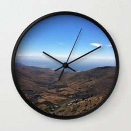 Volcanic Scene Wall Clock