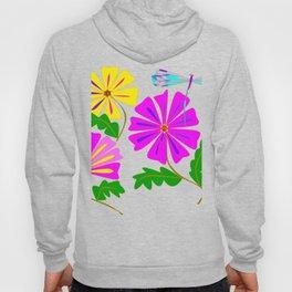 Three Flowers and a Damselfly Hoody