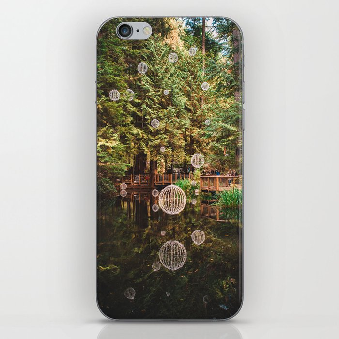 Balls of Light in Forest iPhone Skin