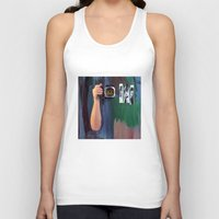 les mis Tank Tops featuring Les Yeux  by Bruce Stanfield