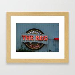 The Keg Framed Art Print