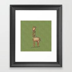 Cleo Giraffe Green Framed Art Print