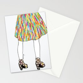 a girl in a dress Stationery Cards