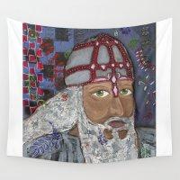 viking Wall Tapestries featuring Viking by Shana Conroy aka Wisccheeto