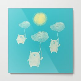 Bears In The Airs Metal Print