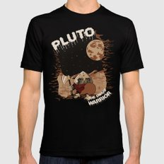 Pluto The Dwarf Planet Mens Fitted Tee Black 2X-LARGE