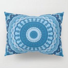 blue mandala 1 Pillow Sham
