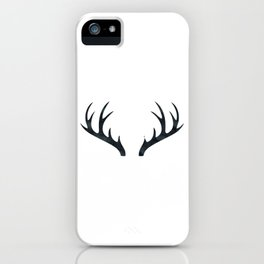 Antlers Black and White iPhone Case
