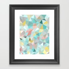 Pastel Tris Framed Art Print