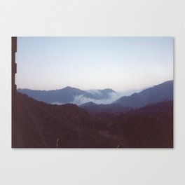 Fog in the Mountains Canvas Print