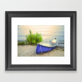 Blue Canoe Framed Art Print