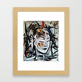 El Cambio - Abstract portraits - Original Painting - MARINA TALIERA Framed Art Print
