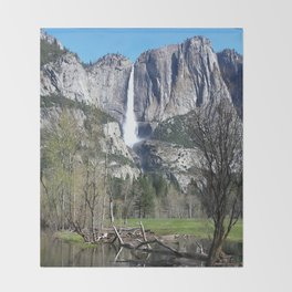 Yosemite Falls Throw Blanket