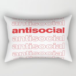Antisocial  Rectangular Pillow