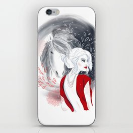 Girl and Horse iPhone Skin