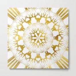 Gold Christmas 05 Metal Print
