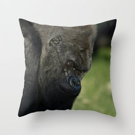 Oumbi The Silverback Throw Pillow