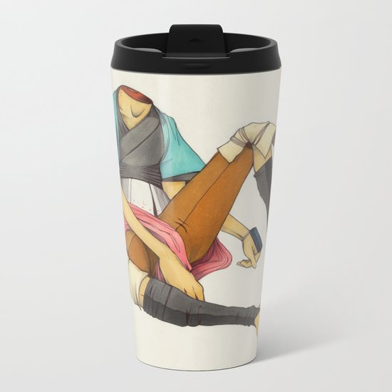 When I Was Little, My Father Was Famous. (No type) Metal Travel Mug