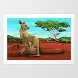 Kangaroos - Day Art Print
