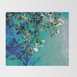 Spring Synthesis IV Throw Blanket