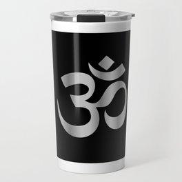 Aum Ohm om symbol in silver Travel Mug