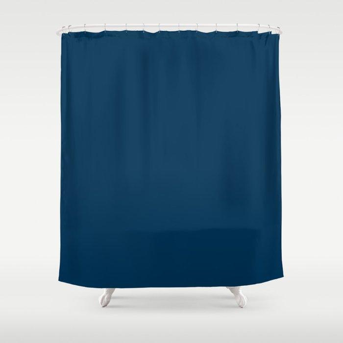 Prussian Blue Solid Color Shower