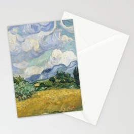 Wheat Field with Cypresses by Vincent van Gogh Stationery Cards