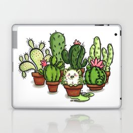 Green - Cactus and Hedgehog Laptop & iPad Skin