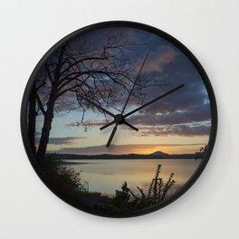 Lake Quinault Sunset, Washington Wall Clock