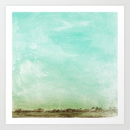 Washed Out Field Art Print