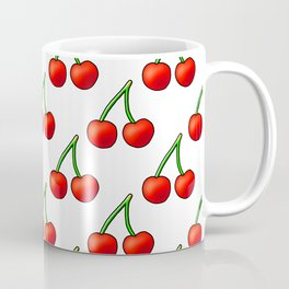 Cherry Pattern on White Coffee Mug