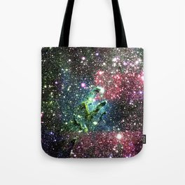 Eagle Nebula Colorful Jewel Tones Tote Bag