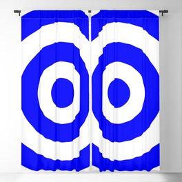 Target (Blue & White Pattern) Blackout Curtain