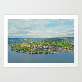 Rhein Riverbend Art Print
