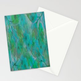 Painterly Summer Morning Floral Abstract Stationery Cards