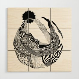 Dança pra Lua Wood Wall Art