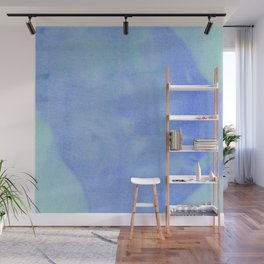 Ocean Wave Water Color Abstract Wall Mural