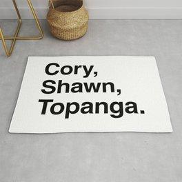 Cory, Shawn, Topanga. Rug