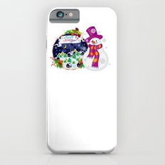 Cheerful snowman waiting for a holidays Slim Case iPhone 6s
