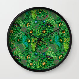 Surreal pattern (color) Wall Clock