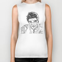 liam payne Biker Tanks featuring Liam Payne by Hollie B